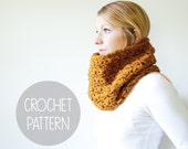 chunky crochet cowl pattern - the mallory cowl