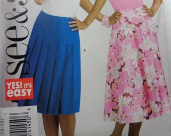 Butterick 4961-Misses' Skirt Pattern- sizes 6-12-easy to sew-uncut
