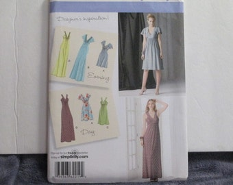 Simplicity 2219--  Dress in 2 lengths-Differendt styles -Sizes 14-22