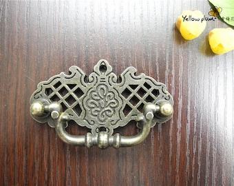 1/2/10 Pcs 67*38mm antique brass color dresser drawer pulls handles / Cabinet Knob Pull Handles/jewelry box handle H038