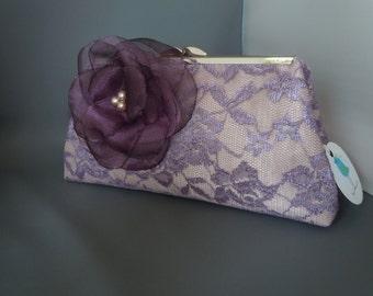 Purple Plum Wedding Clutch, Violet Wedding Clutch, Purple Bridesmaids Gift, Purple Mother of the Bride Clutch, Purple Clutch