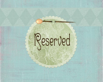 RESERVED FOR VANNESSA