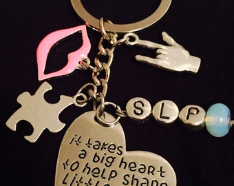 Speech Language Pathologist SLP keychain