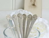 Mocha coffee spoons, vintage Swedish demitasse cutlery, silver plate flatware, please read details