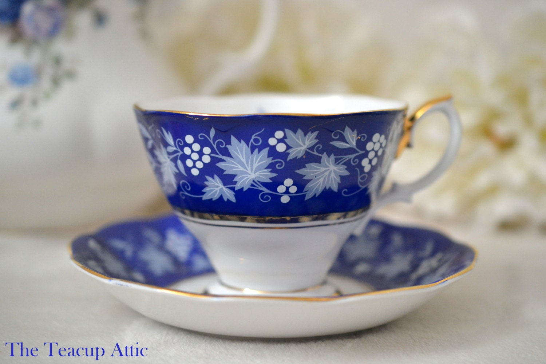 ON SALE Royal Albert Chateau Series Dijon Teacup Set, English Bone China Tea Cup Set, Wedding Gift, Afternoon tea Party, ca. 1960-1970