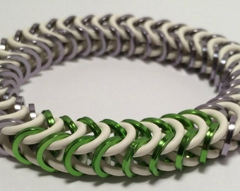 Genji Inspired Stretch Box Chain Chainmaille Bracelet