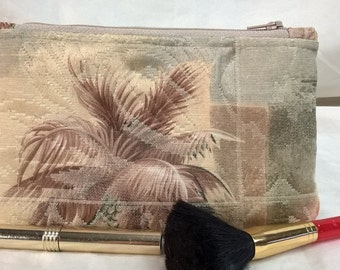 Earth Friendly~Environmentally Friendly~Recycled~Matelasse~Cosmetic Bag~Dupioni Silk Lined~Mat Palm Beach~Florida