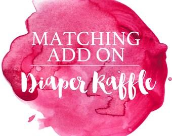 Diaper Raffle Custom Add on to any Order, Diaper Raffle, Baby Shower, Custom Order, DIY, Printable