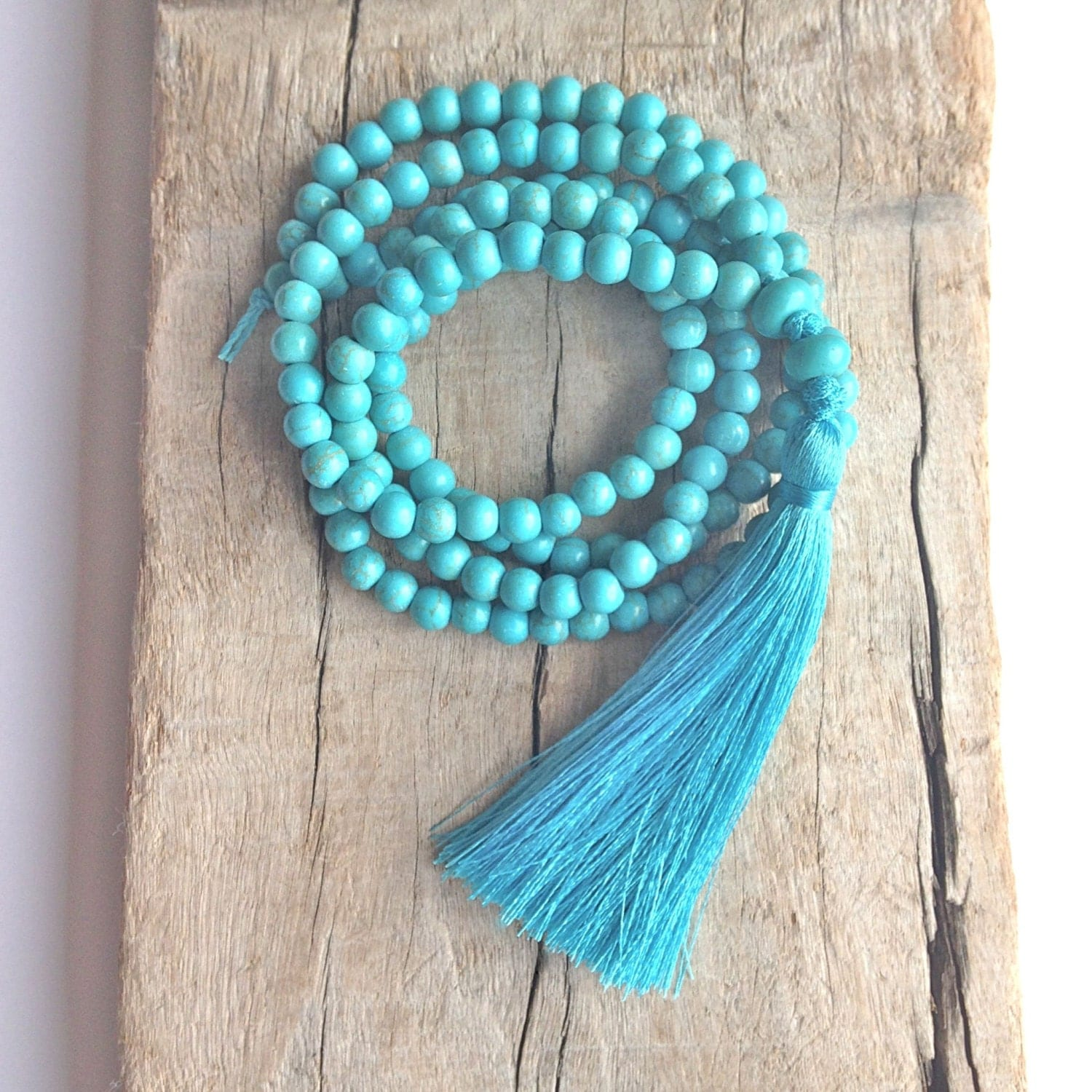 tassel necklace turquoise beaded necklace bohemian jewelry. Black Bedroom Furniture Sets. Home Design Ideas