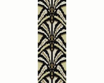 Art Deco 4 Peyote Bead Pattern, Bracelet Cuff, Odd Peyote, Bookmark, Seed Beading Pattern Miyuki Delica Size 11 Beads - PDF Instant Download