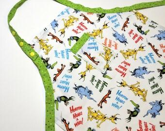 Child's Dr Seuss Horton Hears A Who Apron