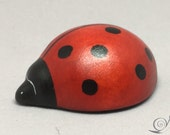 Toy Ladybird Wood red white black   Size: 4,0 x 1,8 x 5,0 cm (bxhxs)  ca. 12,0 gr.