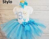 frozen birthday outfit,  birthday outfit,birthday girl outfit, elsa birthday tutu,colorful tutu,girl birthday outfit