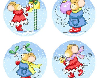 Furry Tales Snowy Christmas Cross Stitch Patterns