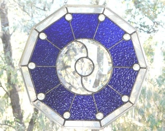 Stained Glass Yin Yang Meditation Panel