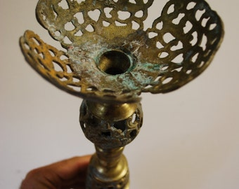 1950s Candle Holder - BRASS