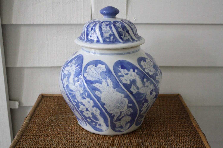 blue and white ginger jar asian vase blue and white. Black Bedroom Furniture Sets. Home Design Ideas
