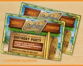 CUSTOM SWIM / POOL Party Birthday Invitations
