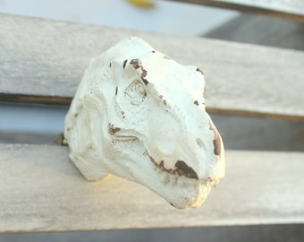White Dinosaur Knob Drawer Cabinet Knob Dresser Knob Rustic Home Decor Childrens room
