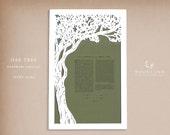 SALE Giant Oak Tree papercut ketubah