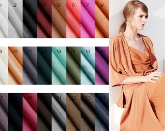 Summer Lining Fabric, Silk Cotton Lining Cloth fabric, Dress Lining, 24 Colors for choice, summer Lining Fabric  1 yard (QT799)