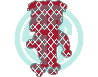 Bully Mississippi State Bulldogs MSU Applique Embroidery Design {ready to sew}