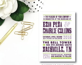 Nashville Suite | Wedding Invitations | Printed by Darby Cards