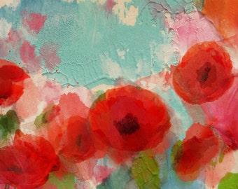 "Fresh Air Poppies.  Canvas Print by Irena Orlov 24x36"""