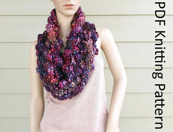 Magma Cowl knitting pattern bubbles oversized easy beginner