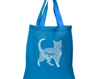 Small Tote Bag - Cat Created out of cat themed words