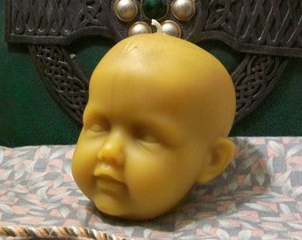 Baby Head Beeswax Candle Large Size Choice Of Color