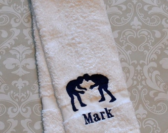 Personalized Wrestling Sport Towel ST029