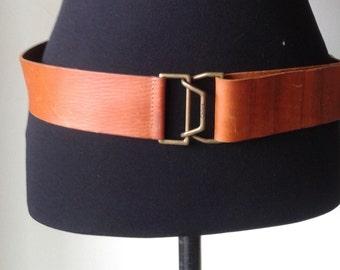 CHLOÉ belt, leather belt, made in Italy, camel brown   leather belt