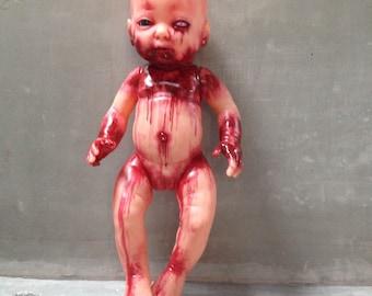 Handmade doll horror zombie