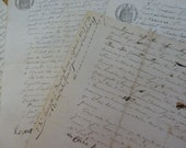 Antique Documents, Papers, Old Hand Written Mid 1800's, Legal Documents.