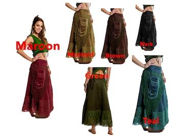 STEAMPUNK SKIRT, wrap Skirt, Gypsie skirt, junk gypsie skirt, GOA skirt, medieval skirt, Calsklp