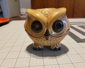 Vintage Owl Tea Light Holder