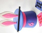 Magic Fondant Topper. Girl magic fondant topper set - Magic Cake Topper Set.  Magician Fondant.  Magic Show Party. Magic Party.