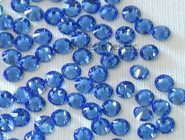 sapphire 9ss swarovski elements rhinestones 2058 flat back 1