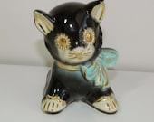 Mid Century Shawnee Ceramic Cat Planter