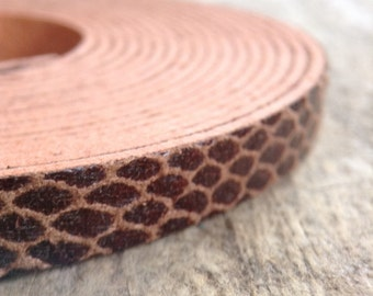 Faux Leather Strap, 3 meters, 8mm, Faux Snake Skin, Leather Cord, Destash, Jewelry DIY, Jewelry Making, DIY, Craft Supplies, Jewelry Supply