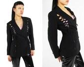 Reserved JEAN PAUL GAULTIER Vintage  'Concurs D'Elegance' Cut Out Lace Up Corset Jacket