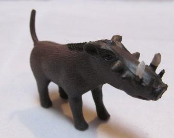 Tiny Wild Boar Wart Hog with Tusks