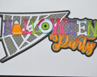 Paper Piecing Halloween Party Premade Scrapbook Page Layout CraftECafe