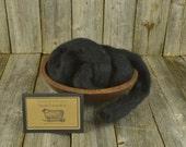 NEW Raven - Needle Felting  Wool - Natural Wool Roving - Wet Felting Wool-Nuno Felting-Spinning