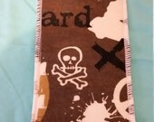 Replacement cloth cotton sustainable baby good mama cloth once upon a change cloth diaper liner for pocket diapers made in USA skull skater