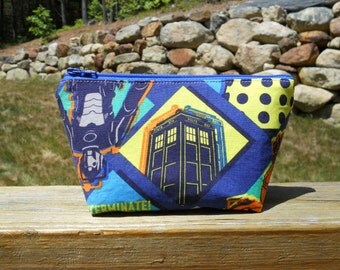Extra Small Makeup Bag, Tardis Bag, Doctor Who, One of a Kind