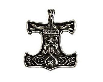 Thor Pendant - Pewter, Norse god, Celtic hammer, Norse pride, God of thunder, Mjolnir, Thor amulet, God thor