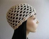 Crochet Beanie - Ivory Summer Beanie - Juliet Beanie - Crochet Beanie Hat - Beanies - Crocheted Beanies - Beanie Hats - Juliet Cap -Skullcap