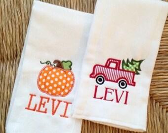 Holiday Boys Burp Cloth Gift Set